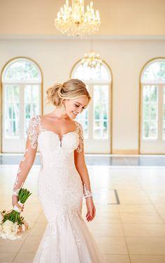 LONG-SLEEVED LACE TRUMPET WEDDING DRESS Wedding Dress Pictures, Best Wedding Dresses, Designer Wedding Dresses, Gown Wedding, Lace Wedding, Wedding Blog, Lace Bride, Wedding Shit, Backless Wedding