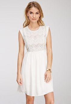 $27.90 Eyelash Lace Combo Dress | Forever 21 - 2000055788