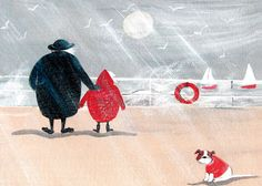 'Blustery Day' By Artists Jennifer Verny-Franks. Blank Art Cards By Green Pebble. www.greenpebble.co.uk