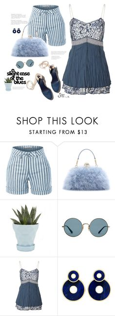 """So, is this a thing now?"" by shalysa ❤ liked on Polyvore featuring LE3NO, Dolce&Gabbana, Chive and Ray-Ban"