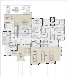 Shop plans with living quarters shop with living quarters floor plans fresh best new house ideas House Plans One Story, New House Plans, Dream House Plans, Story House, House Floor Plans, Custom House Plans, U Shaped House Plans, 6 Bedroom House Plans, Barndominium Floor Plans