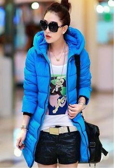 2016Spring winter Hot sale Cheap wholesale down cotton-padded womens fashion Ladies work wear medium-long slim plus size Jacket