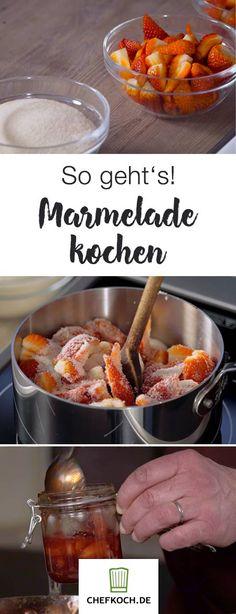 Selbstgemachte Marmelade schmeckt einfach himmlisch! Wir zeigen euch, wie einfach die Zubereitung ist.