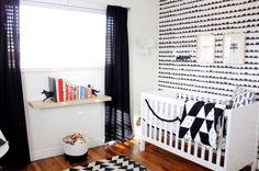 quarto de bebe preto e branco - Pesquisa Google