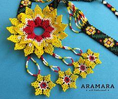 Huichol Jewelry set Huichol necklace Mexican Necklace