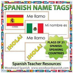 Spanish Name Tags - Etiquetas para Nombres en español