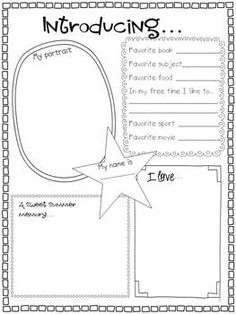 Back to School: All About Me {Writing Activity Craft} Counseling Activities, Writing Activities, Classroom Activities, Teaching Time, Student Teaching, Teaching Ideas, Back To School Bulletin Boards, First Day Of School Activities, Star Students