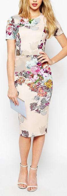print pencil dress #print