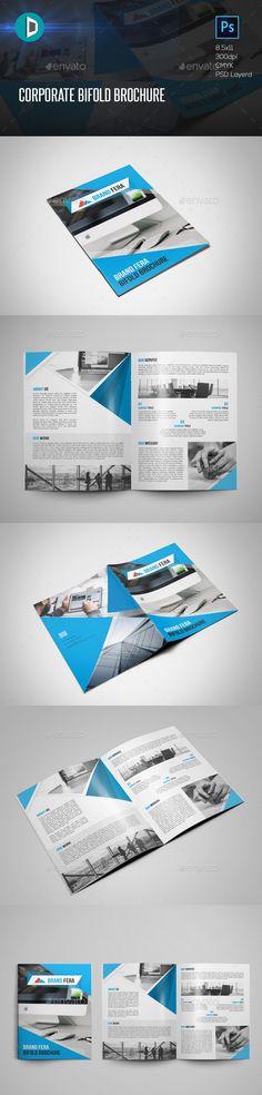 Corporate Bifold Brochure Template PSD. Download here: http://graphicriver.net/item/corporate-bifold-brochure/16098626?ref=ksioks