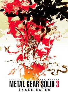 Fan made Metal Gear Solid 3 Poster - Official (background) artwork by Yoji Shinkawa