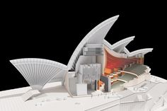 The Sydney Opera House is the result of an international competition for architects held in 1956 which Jorn Utzon won. The Sydney Opera House is an icon. Opera House Architecture, Architecture Model Making, Architecture Student, Concept Architecture, Architecture Design, Architecture Diagrams, Architecture Collage, Jorn Utzon, Urban Design Concept