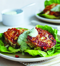 YUM!!! Clean Eating Crab Cakes with Creamy Cucumber Sauce #healthy #protein