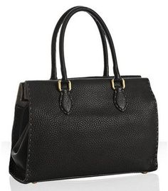 The basic black tote is something every professional woman needs -- both for interviewing as well as for general carrying. In fact, some may say the basic black tote is the woman's version of a briefcase. Work Fashion, Fashion Design, Fashion Styles, Interview Attire, Women Lawyer, Fendi Bags, Medium Tote, Black Tote Bag, My Style