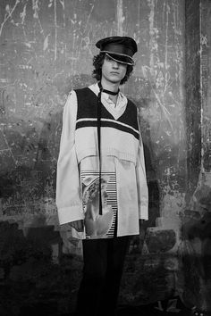 S&M and Robert Mapplethorpe eclectic couture Avant garde and tongue in cheek menswear collection 2017 trend