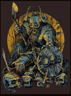 by Nikita Shalaginov, via Behance Norse Tattoo, Viking Tattoos, Armor Tattoo, Warrior Tattoos, Viking Wallpaper, Illustrations, Illustration Art, Viking Art, Viking Woman