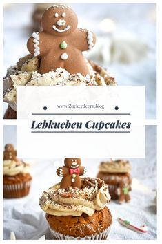 Ein Rezept für Lebkuchen Cupcakes A recipe for gingerbread cupcakes Cupcakes Amor, Themed Cupcakes, Cupcake Cakes, Delicious Cake Recipes, Yummy Cakes, Lebkuchen Cupcakes, Gingerbread Cupcakes, Christmas Cupcakes, New Cake