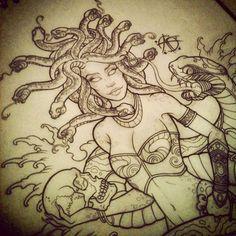 Medusa back piece