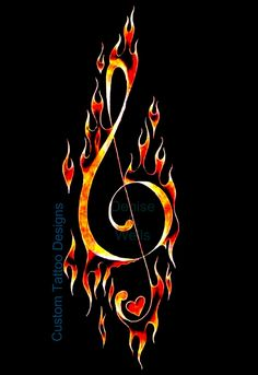 Treble Clef Tattoo design by Denise A. Wells | by ♥Denise A. Wells♥