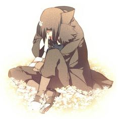 Naruto - Itachi Uchiha x Sasuke Uchiha - ItaSasu Anime Naruto, Naruto And Sasuke, Manga Anime, Comic Naruto, Sakura And Sasuke, Fanarts Anime, Naruto Shippuden Anime, Anime Guys, Itachi Uchiha