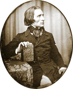 Franz Liszt in 1843. Love the cravat and the huge cravat-pin.
