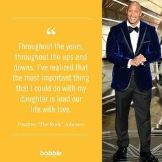 OMGQuotes will help you every time you need a little extra motivation. Get inspired by reading encouraging quotes from successful people. The Rock Dwayne Johnson, Rock Johnson, Dwayne The Rock, Star Quotes, Celebration Quotes, Ups And Downs, Our Life, To My Daughter, Celebrity Quotes