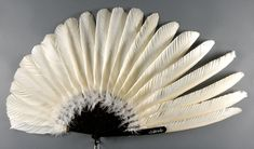US: 1910-15: Goose feathers with ostrich feathers; tortoiseshell sticks...