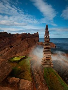 ♂ Environmental art Land Art rock mist
