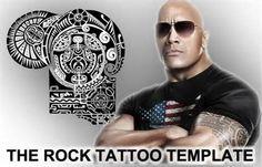 the rock tattoo template, the rock tattoo, the rock tattoo template ...