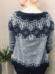 Ravelry: Brosja genser pattern by Lill C. Knitting Designs, Knitting Projects, Knitting Patterns, Crochet Patterns, Icelandic Sweaters, Fair Isle Knitting, Knit Fashion, Knit Cardigan, Knit Crochet