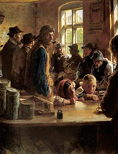P.S. Krøyer, At the victualler's when there is no fishing, 1882. Den Hirschsprungske Samling, Copenhage