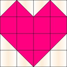 For Ella Blankets the East Coast with Love quilt...........heart quilt block pattern with squares and half squares