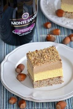 Chocolate dates: Monte pastry Polish Desserts, Polish Recipes, Sweets Cake, Cupcake Cakes, Chocolate Ganache Tart, Cookie Recipes, Dessert Recipes, Different Cakes, Pastry Cake