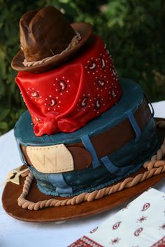This one's for my friends in Texas!! From: the cake box: Cowboy Birthday Cake
