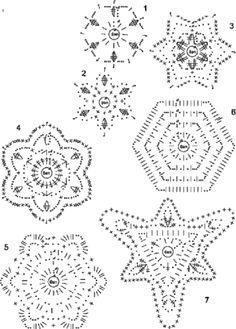 Kraina wzorów szydełkowych...Land crochet patterns..: gwiazdki na choinkę