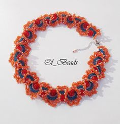 Seed Bead Necklace Ogalala Lace Necklace Beaded Ruffle by OlBeads