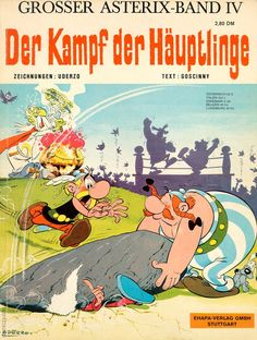 Astérix, tome 07 : Le combat des chefs René Goscinny et Albert Uderzo Caricature, Comic Book Covers, Comic Books, Asterix E Obelix, Albert Uderzo, Teaching Latin, Comedy, Lucky Luke, Lectures
