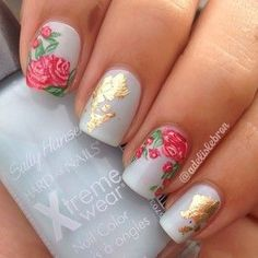 awesome Roses Nail Art...
