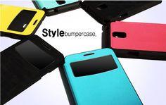 LG G4 ARASO STYLE VIEW BUMPER FLIP CASE