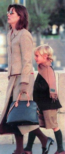 Caroline with Pierre.  Love the socks:)