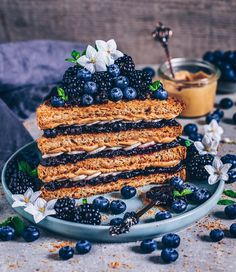 crispy coconut toasts with peanut butter, banana & blueberry jam Rainbow Food, Blueberry Jam, Toasted Coconut, Shredded Coconut, Coconut Sugar, Coconut Oil, Cute Desserts, Vegan Kitchen, Aesthetic Food