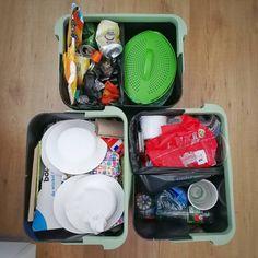 """""""One small step for a man.... Twee weken geleden zijn we gestart met het scheiden van ons afval met #binbang  Eigenlijk is het heel erg leuk! Zelfs met een feestje ging het moeiteloos.  Verbazingwekkend hoe weinig restafval er over is.. We scheiden gft, plastic, papier en glas."""" - Irene Lunch Box, Bento Box"""