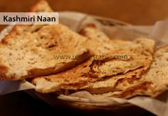 Kashmiri Naan is stuffed with sugar and nuts and very tasty, liked for breakfasts and served best in tea parties. Try this Kashmiri Naan Recipe, you'll like it Ww Recipes, Indian Food Recipes, Bread Recipes, Ethnic Recipes, Naan Recipe, Ramadan Recipes, Iftar, Savoury Dishes, Something Sweet