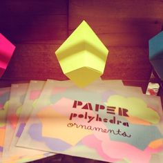 Fold your own paper ornaments $25