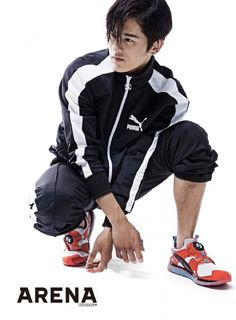 ZE:A's Dongjun and Siwan went for a sporty look for the male fashion magazine 'Arena'!Dongjun went straight with what he's well know… Kim Dong Joon, Asian Men, Asian Guys, Magazine Articles, Sporty Look, Kdrama, Korean, Photoshoot, Kpop