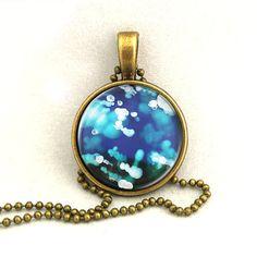 10 SALE Necklace Gemstone Texture Pendant by timegemstone on Etsy, £7.69