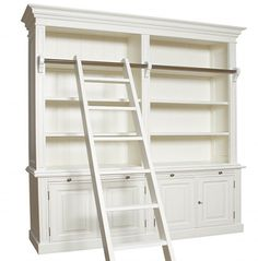 library bookshelf bookcase with ladder