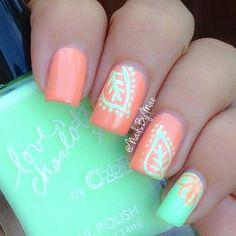 Pinterest #nails,  orange