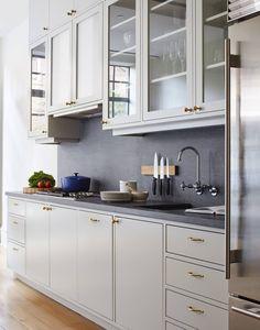 A House United Reimagining a Brooklyn Brownstone … - Kitchen Home Kitchens, Kitchen Remodel, Kitchen Design, Kitchen Cabinet Design, Kitchen Inspirations, Small Kitchen, Kitchen Trends, White Kitchen Cabinets, Kitchen Interior