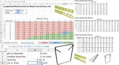 How to use spreadsheet for measuring a concrete reinforcement rebar area