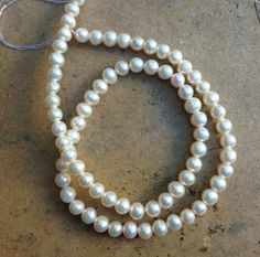 Round Pearl Beads full 15 inch strand 5mm by marketplacebeads, $21.00